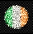 ireland flag sparkling badge vector image