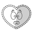 Isolated heart cartoon design vector image