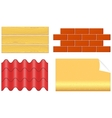 isolated wood boards bricks ply shingles and vector image