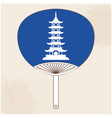 japanese fan japan pagoda painting image vector image