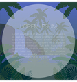 Jungle Flat Background28 vector image vector image