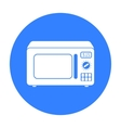 Microwave icon in black style isolated on white vector image vector image
