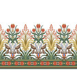 modern border with floral art deco elements vector image vector image