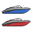 motor speed boat icon set vector image vector image