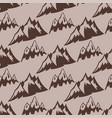 mountain silhouette nature seamless pattern vector image