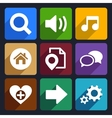 Multimedia flat icons set 4 vector image