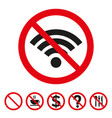 no wi-fi sign on white background vector image