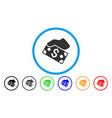pay cash rounded icon vector image vector image