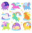 pony cartoon unicorn or baby character vector image vector image