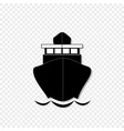 sailing ship front view icon isolated on vector image