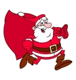 Santa Claus is running vector image
