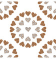 seamless pattern background with wild heart vector image vector image