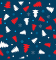 seamless vintage winter pattern with christmas vector image vector image