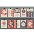 Set of creative vintage card templates Best vector image vector image