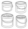 set of paint bucket vector image