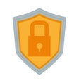 shield with safety lock icon vector image