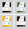 simple business card with logo or icon for your vector image