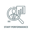 staff performance line icon linear concept vector image