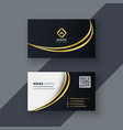 stylish golden creative business card design vector image vector image