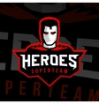 Superhero logo sport style vector image vector image