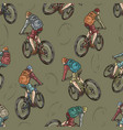 travel vintage colorful seamless pattern vector image