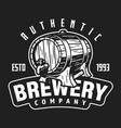 vintage brewery company white logo vector image vector image