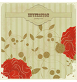 vintage card with with flowers vector image vector image