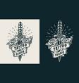 vintage monochrome tattoo studio emblem vector image vector image