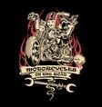 vintage motorcye club ride road vector image vector image