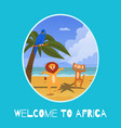 welcome to africa banner inscription animal vector image vector image