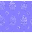 with the image of cakes pattern made vector image vector image