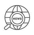 world news linear icon vector image vector image