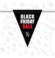 black friday sale icon in black vector image