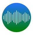 sound waves icon white icon in bluish vector image