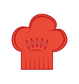 chef hat isolated icon vector image