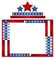 Patriotic frame border vector image