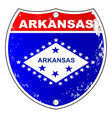 arkansas interstate sign vector image vector image