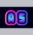 as a s pink blue gradient alphabet letter logo vector image vector image