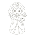 beautiful princess with baby vector image vector image