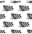 Black and white checkered flag seamless pattern vector image vector image
