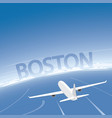 boston skyline flight destination vector image vector image