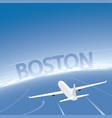 boston skyline flight destination vector image vector image