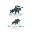 Buffalo mozzarella italian cheese brand logo icon