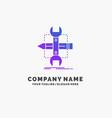 build design develop sketch tools purple business vector image vector image