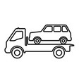 car on a tow truck vector image