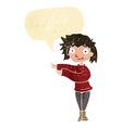 cartoon dancing woman with speech bubble vector image