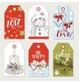 Christmas colorfull tags set vector image