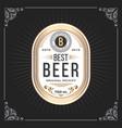 classic vintage frame for beer labels banner vector image vector image