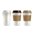 Coffee Plastic Covers Set vector image vector image