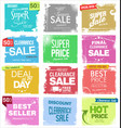 collection colorful grunge retro sale vector image vector image
